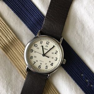 Timex weekender watch with interchangeable bands